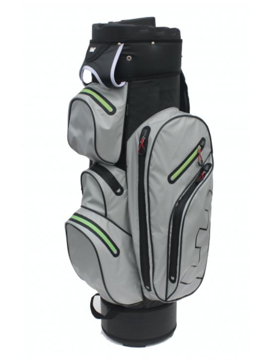 Golf Copenhagen 100% vandtæt golfbag med divider - grå/lime