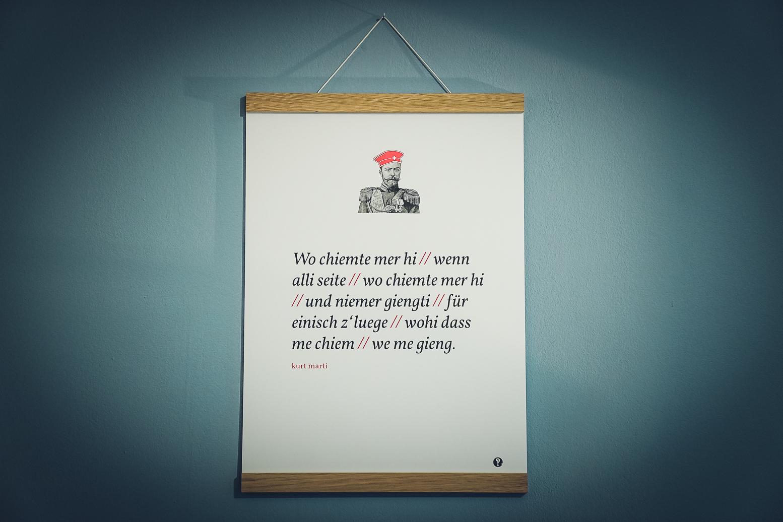 Poster Kurt Marti - Schwizerdütsch