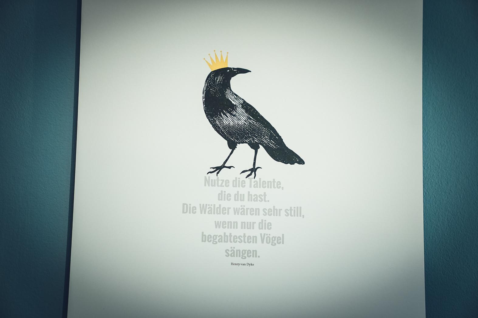 Poster Henry van Dyke - Golddruck