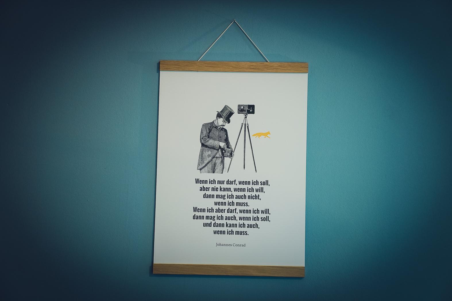 Poster Johannes Conrad - Golddruck