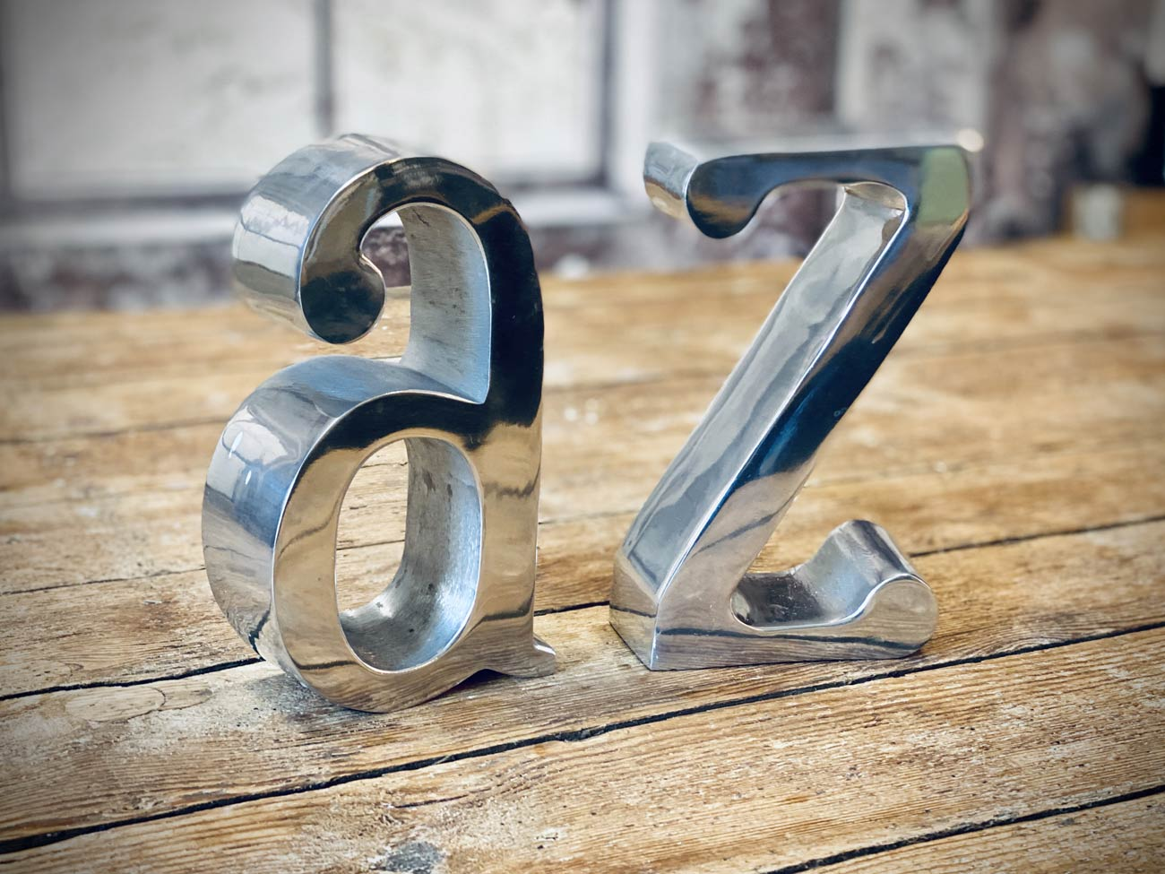 Metallbuchstaben A & Z