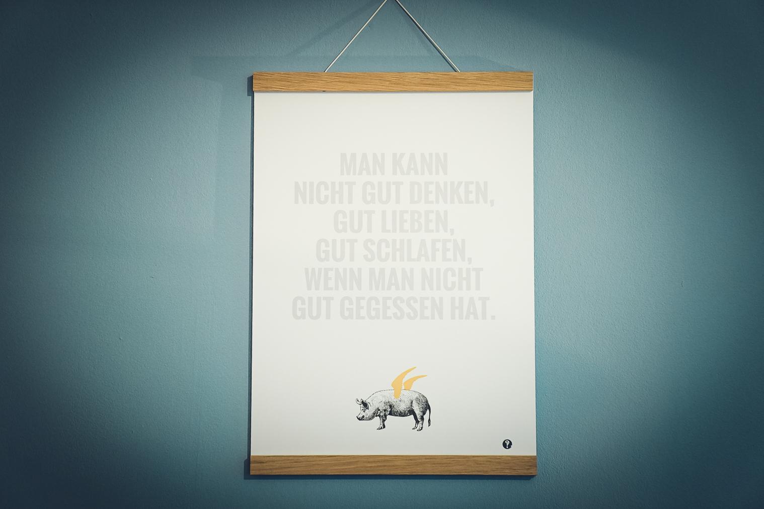 Poster Virginia Woolf - Golddruck