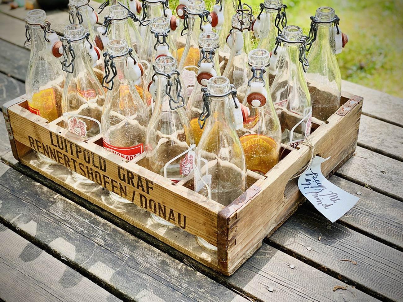 Tolle Vintage Flaschenkiste
