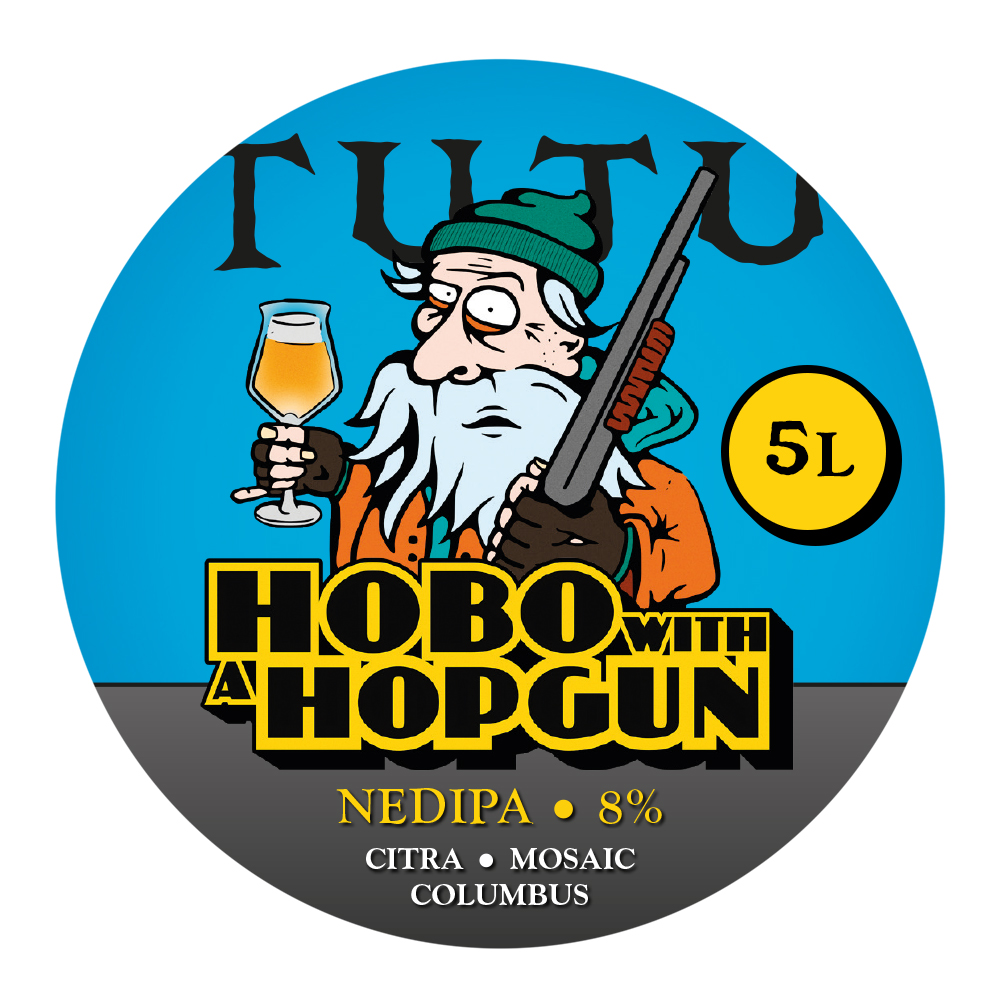 Hobo with a hopgun 8% 5L growler - NEDIPA