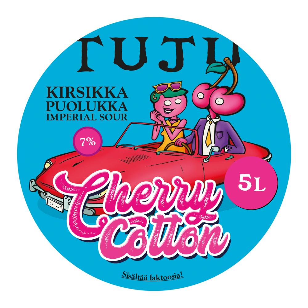 Cherry Cotton 7% 5L growler
