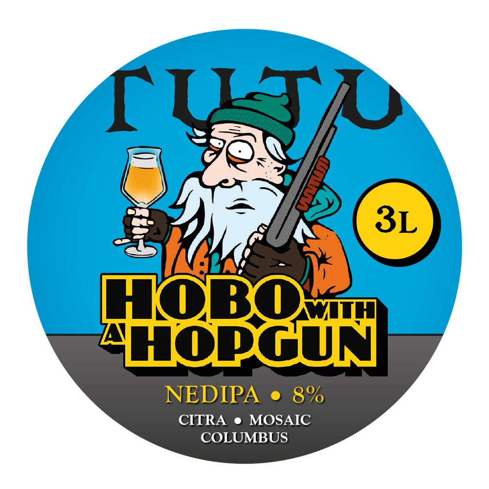 Hobo with a hopgun 8% 3L growler