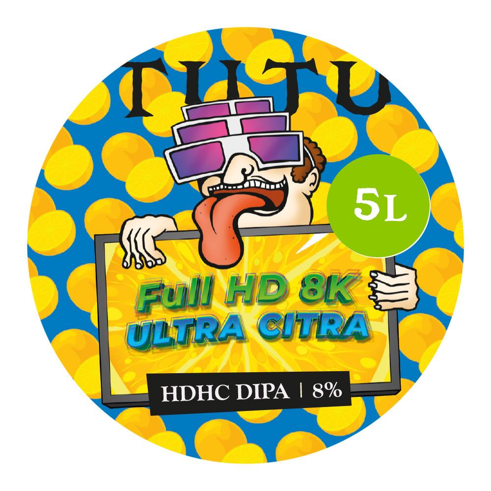 Full HD 8K Ultra Citra 8% HDHC-DIPA 5L growler