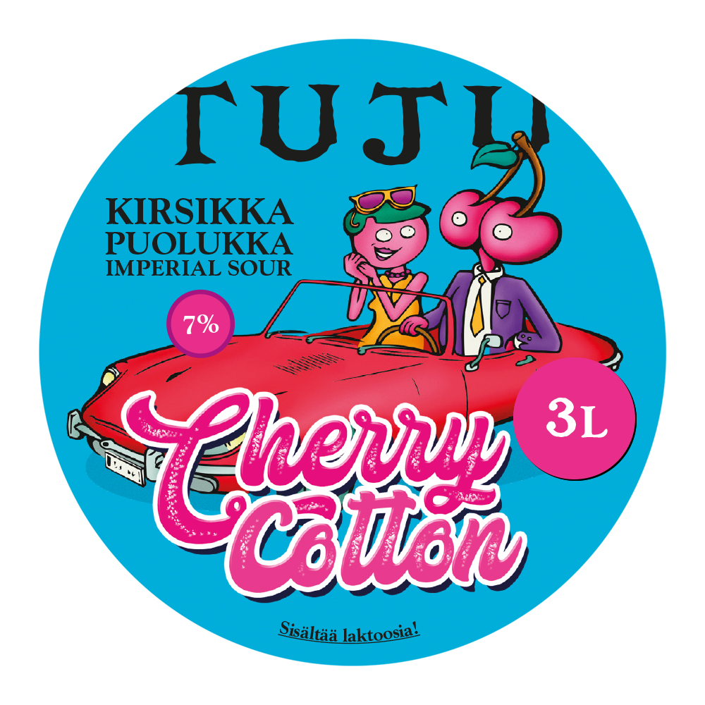 Cherry Cotton 7% 3L growler