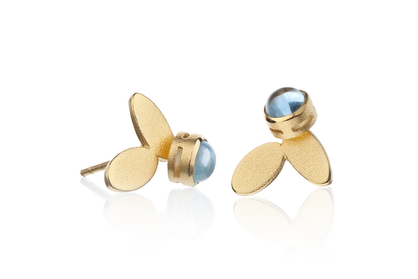 #1011 Thyme small earrings with topas