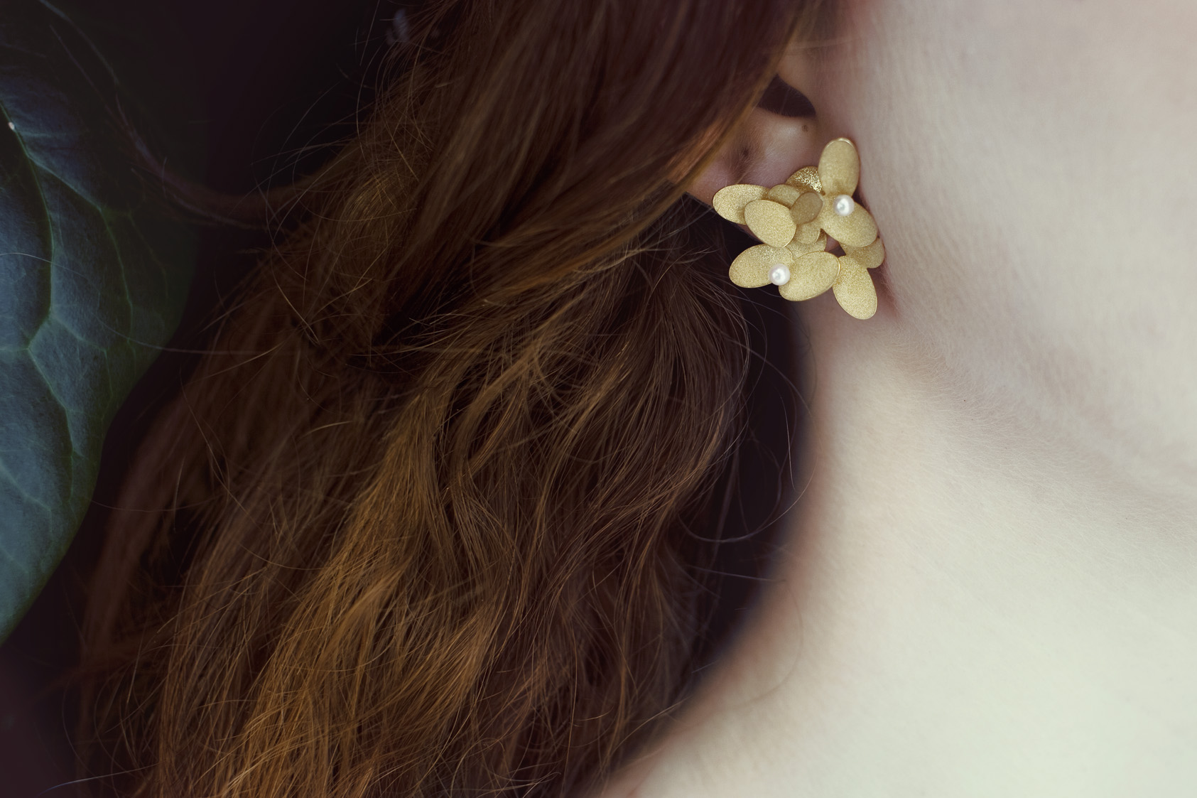 #1009 Abelia large earrings