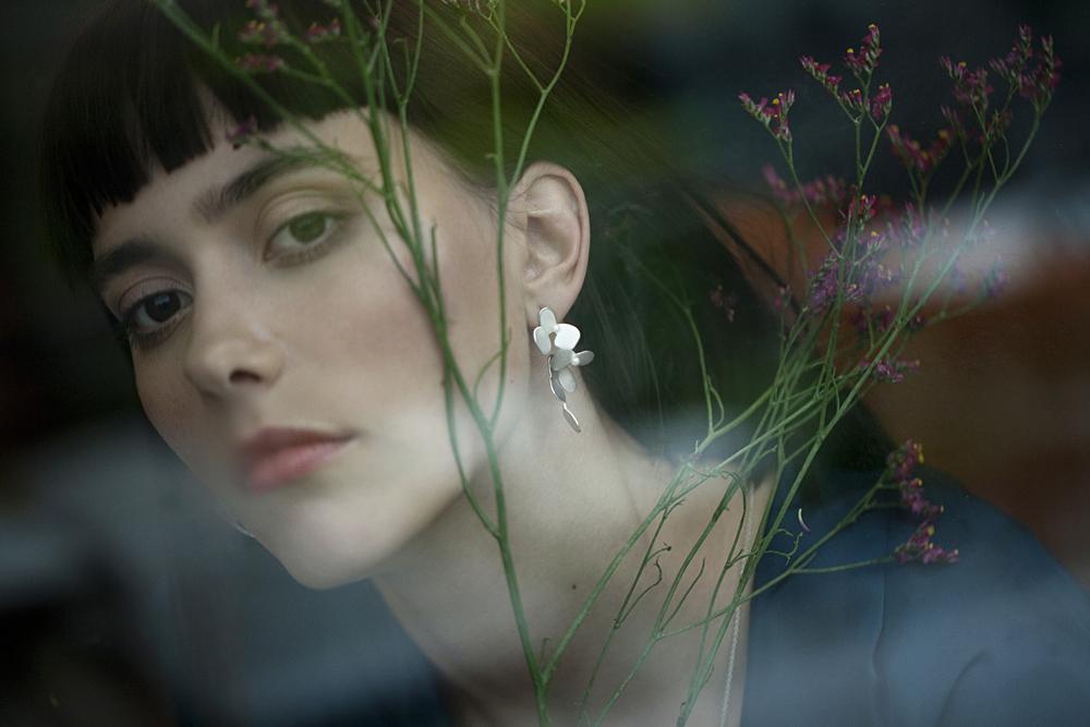 #1015 Ivy hanging earrings