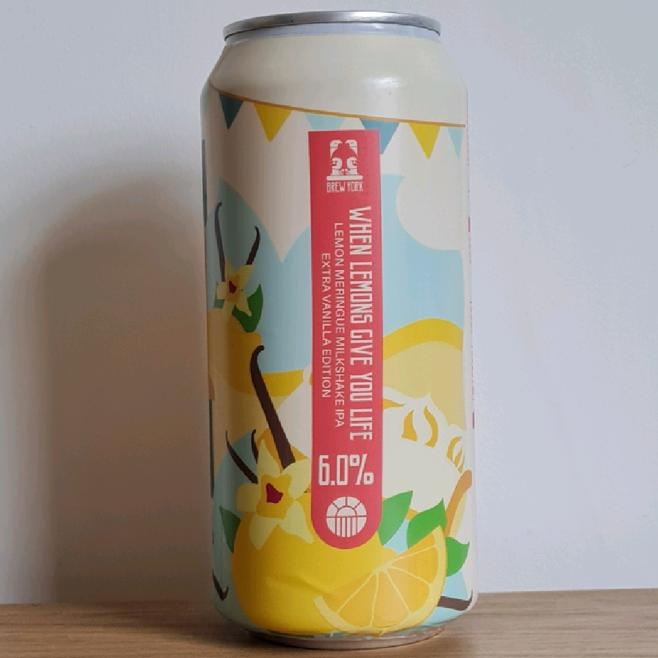 Brew York When Lemons Give You Life Extra Vanilla (limited release)
