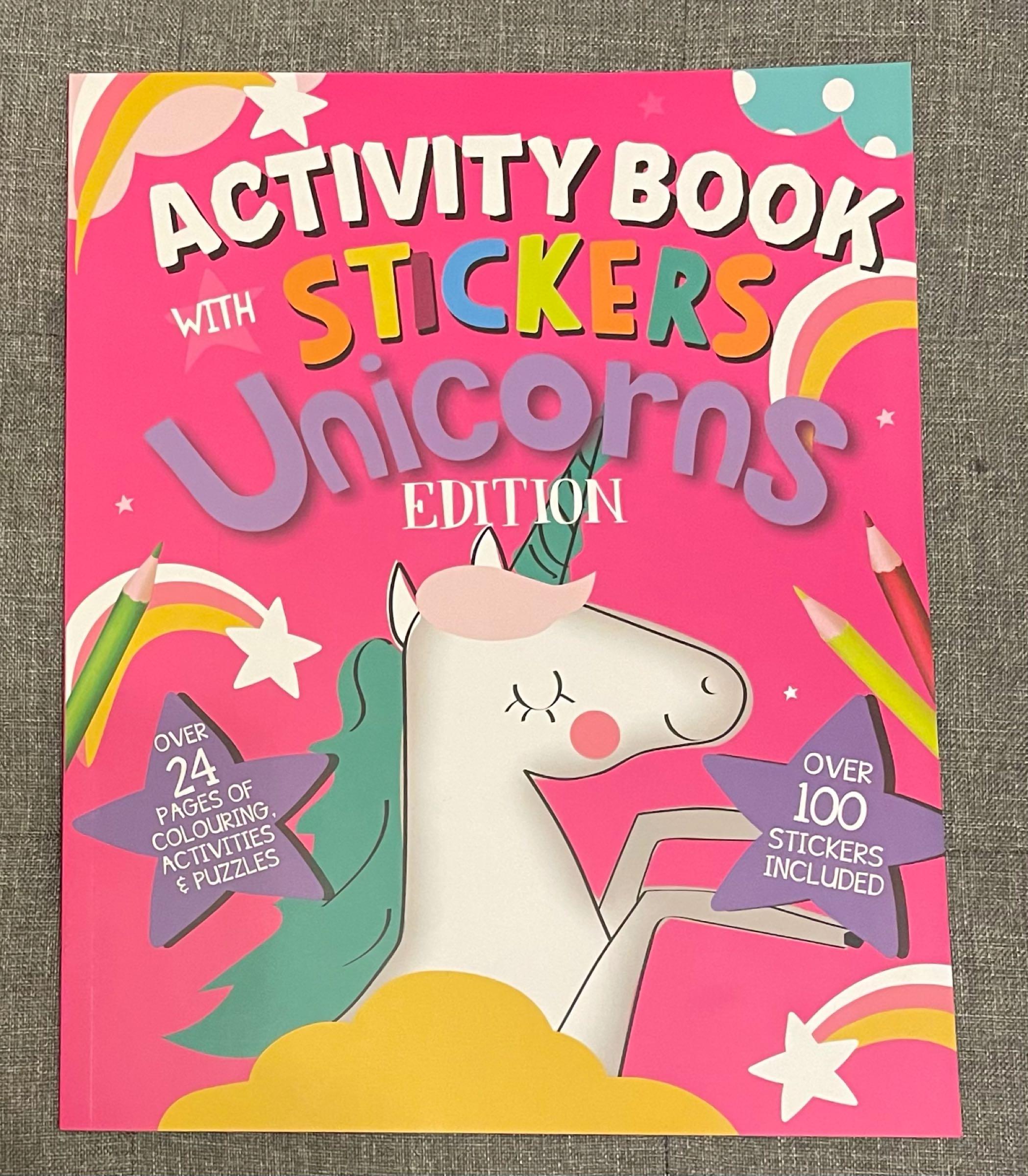 Unicorn sticker book
