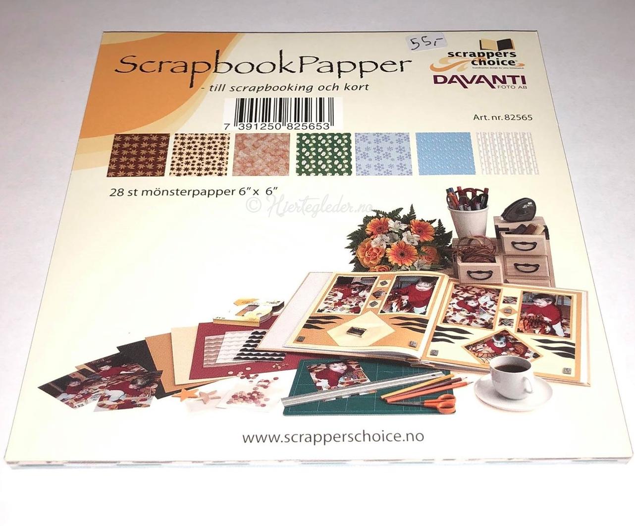 Scrapbookpaper Blokk 28 ark