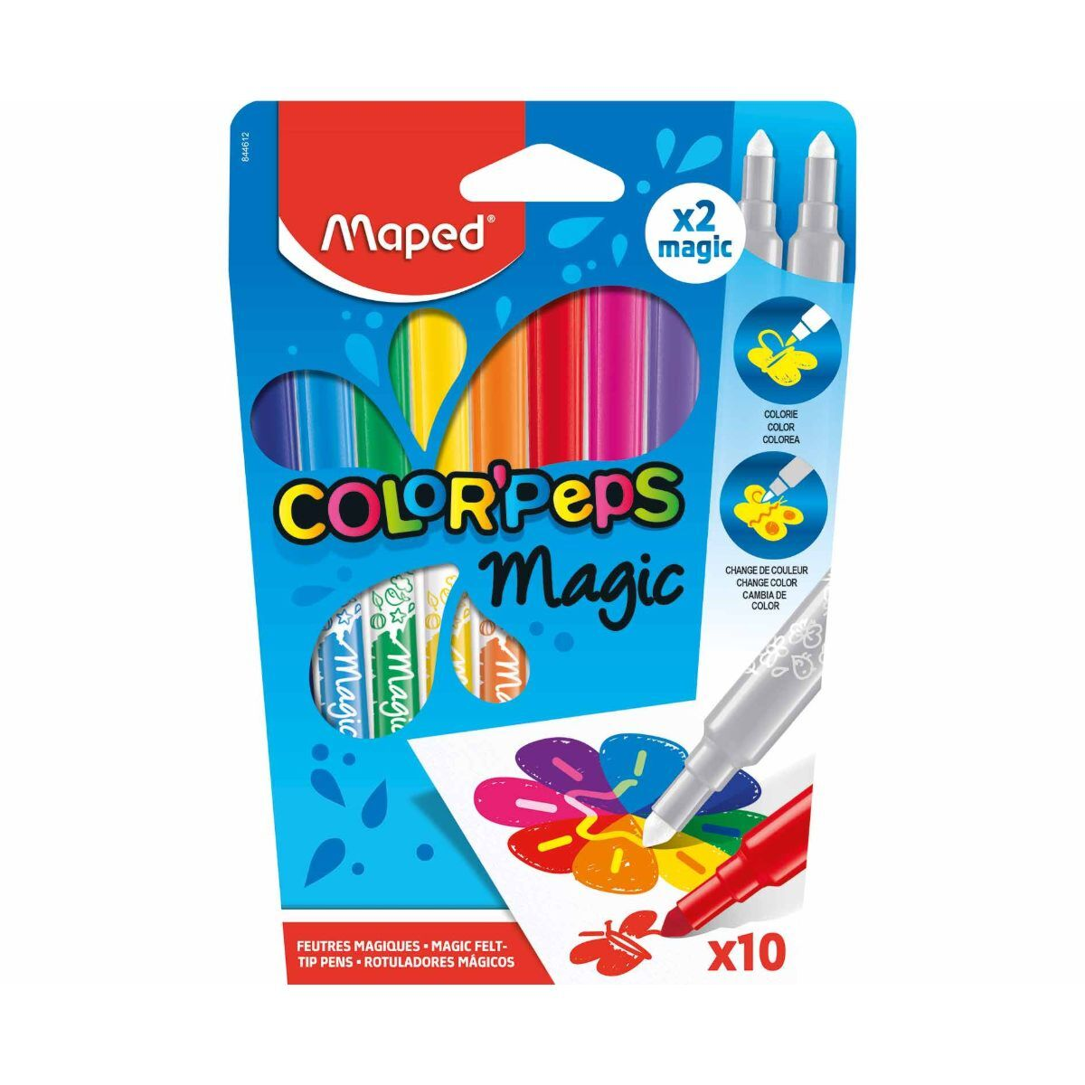 Magic Felt Tip Pens 10 Pack - COLORPEPS