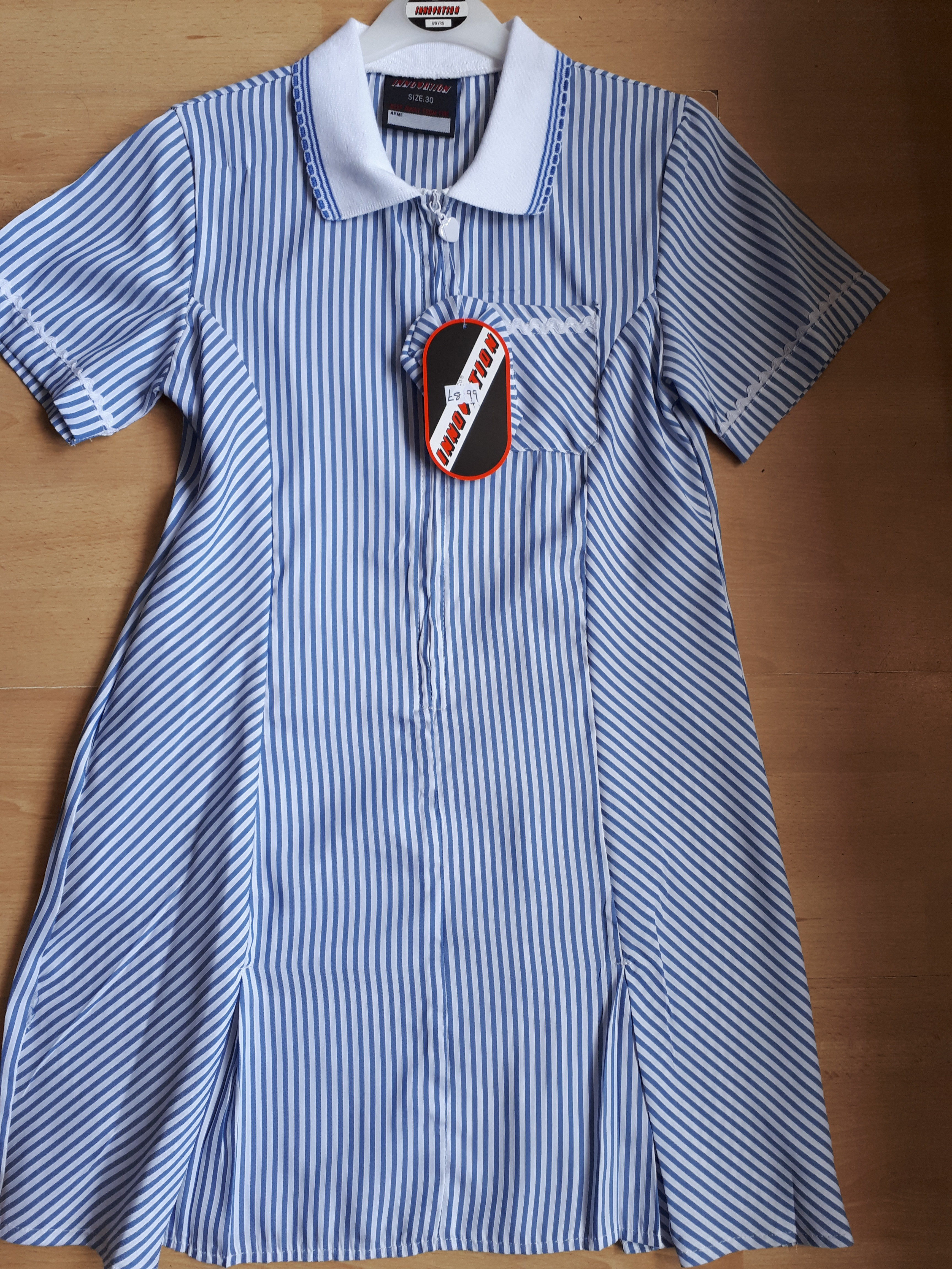 Blue Stripped Summer Dress