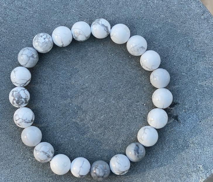 Armbånd Magnesitt hvit