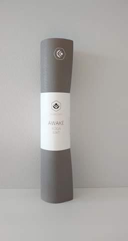 Yogamatte Awake 4mm  Lysgrå