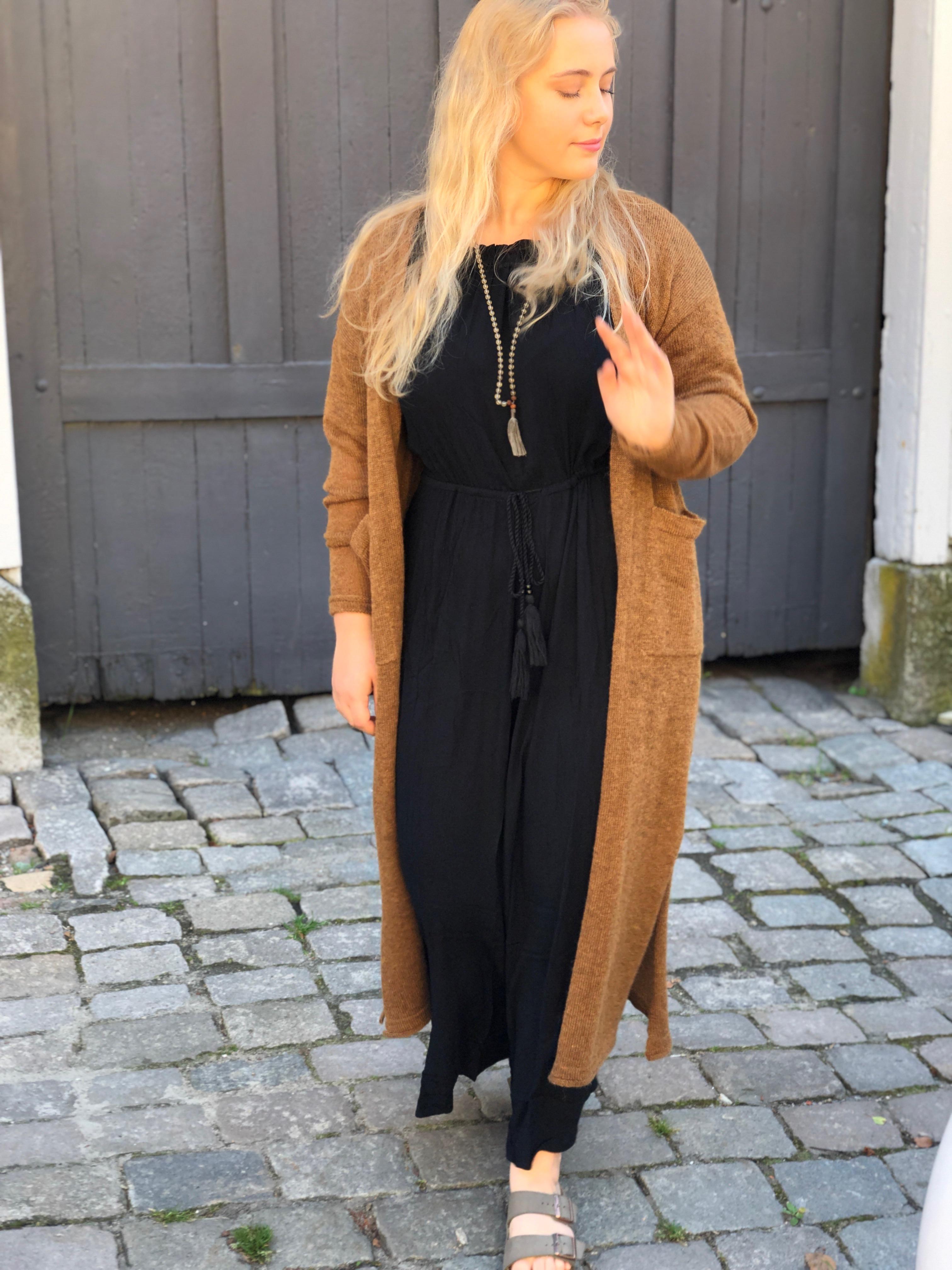 Molly lang jakke, Brunmelert