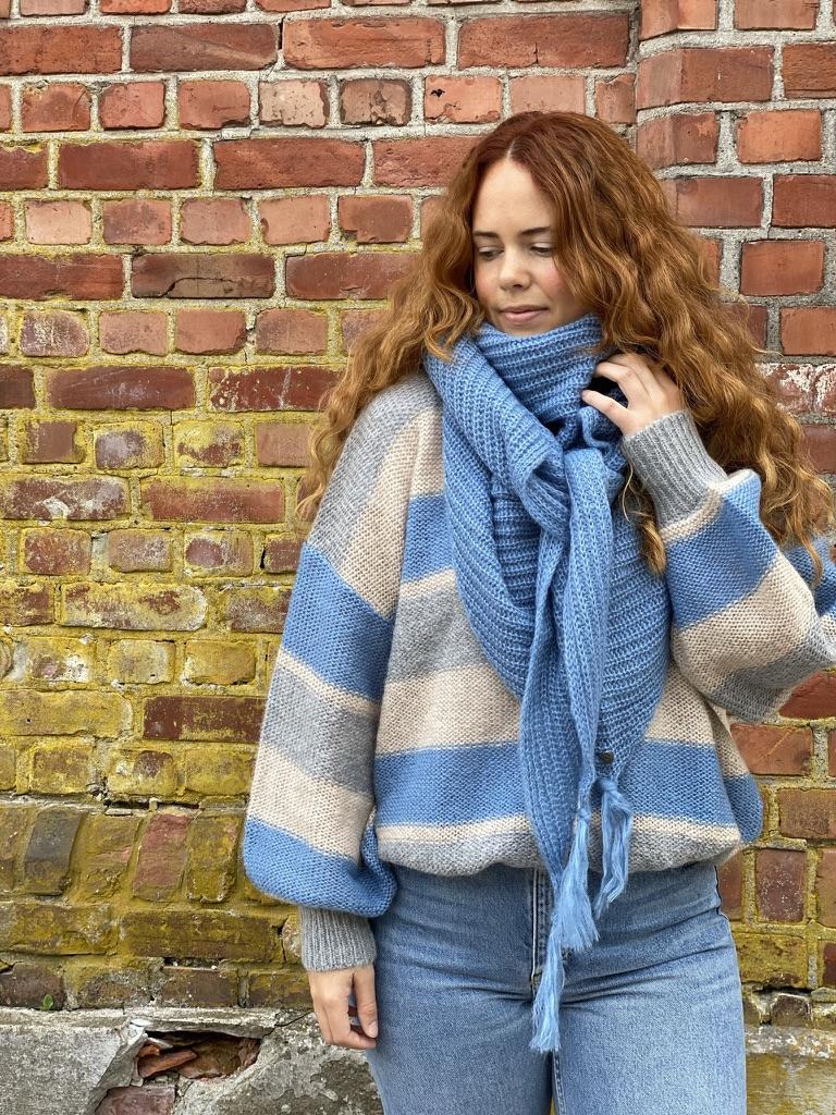 15-5521 Millie strikket jakke, Stripet