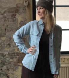 Pixie Skjorte, denimlook