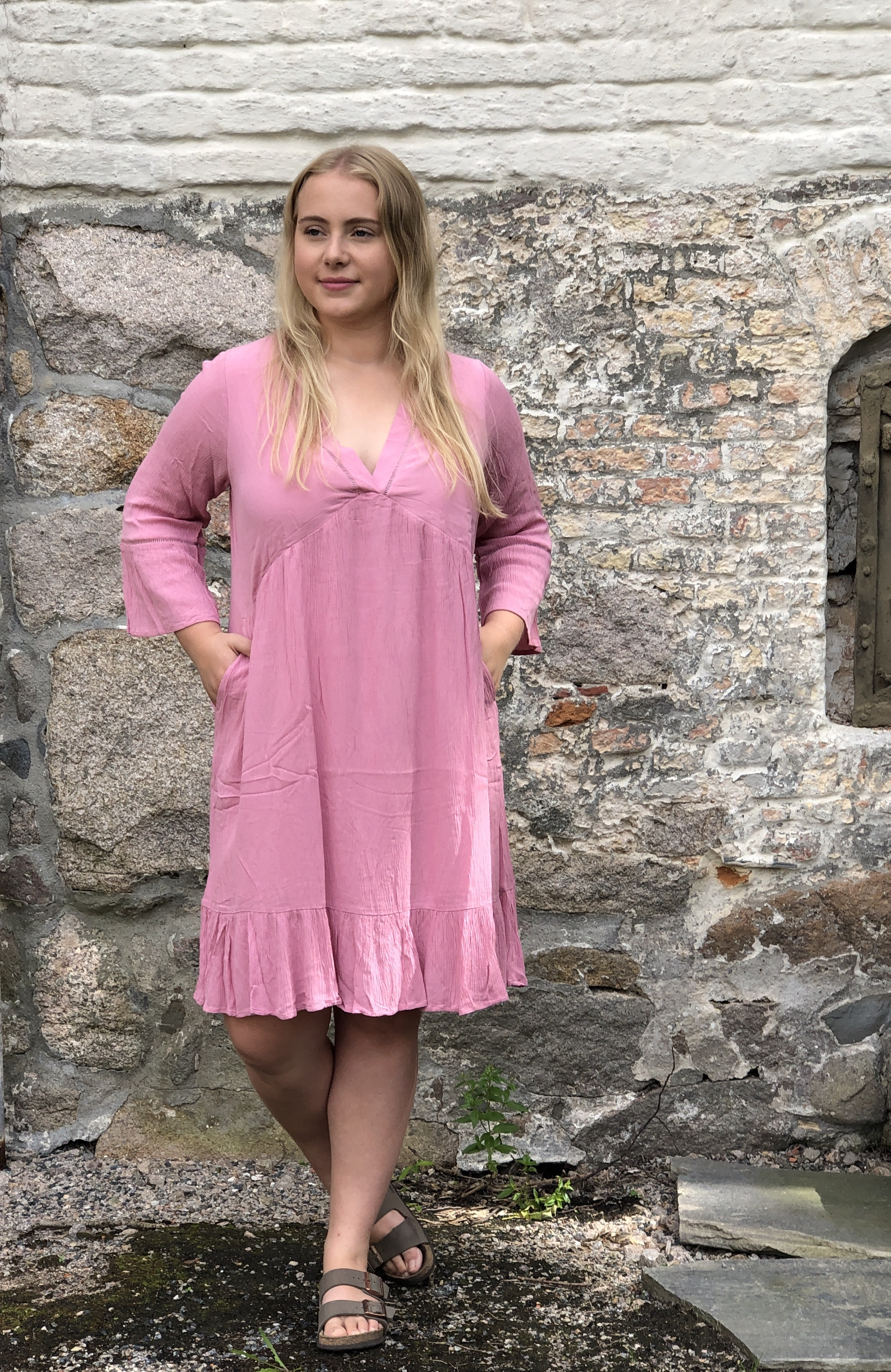 Emma kjole fresh rosa