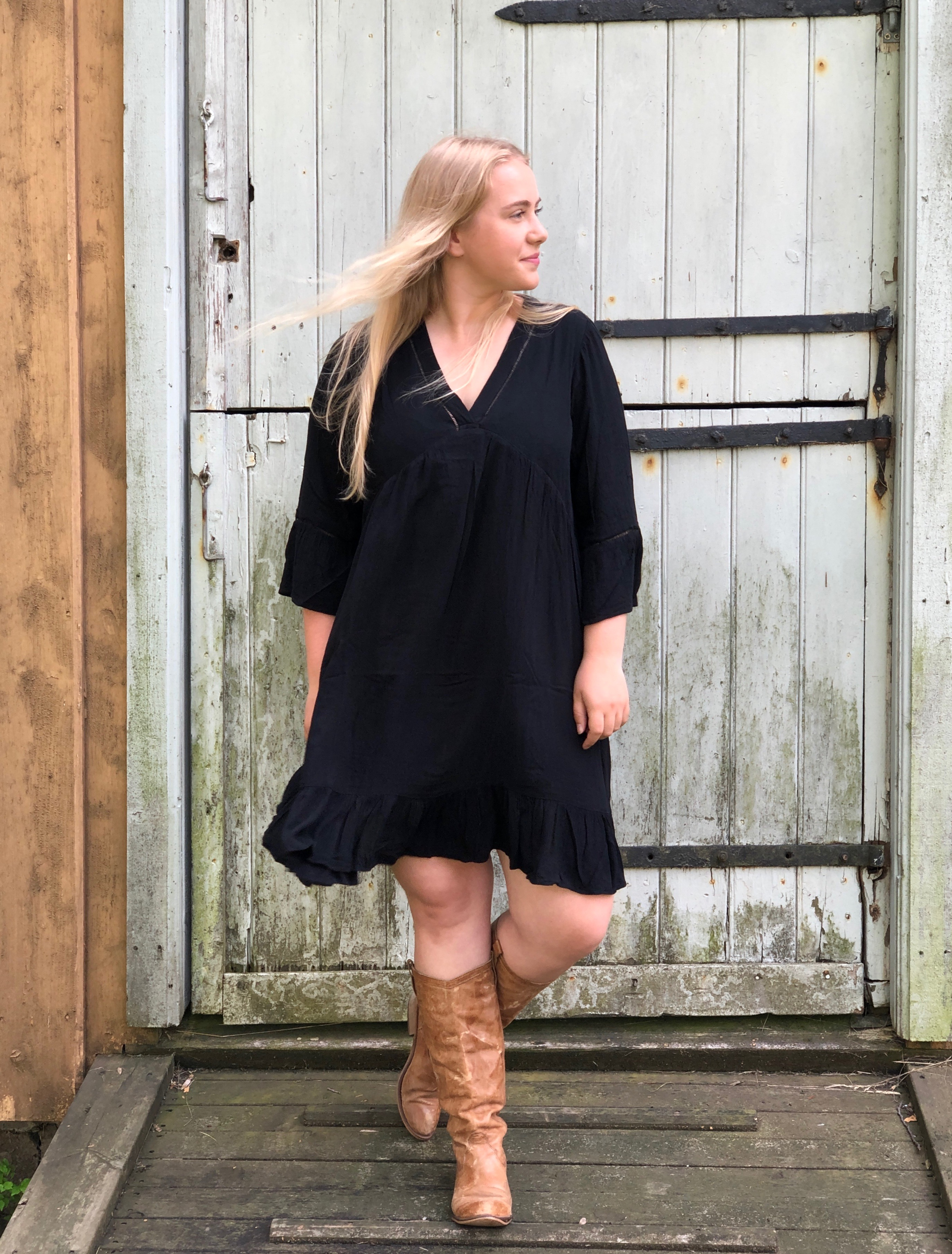 Emma kjole Sort