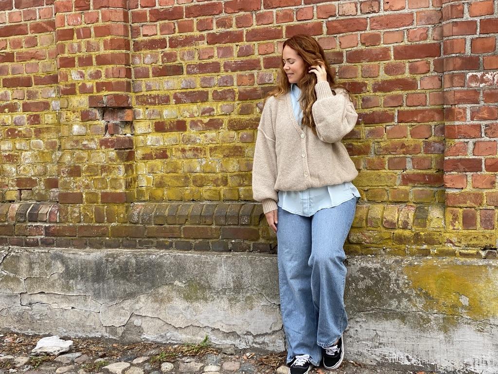 15-5521 Millie strikket jakke, Sand
