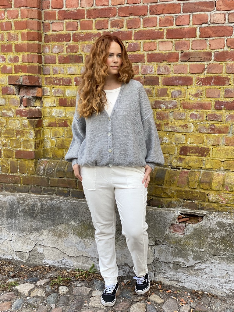 15-5521 Millie strikket jakke, Light Grey