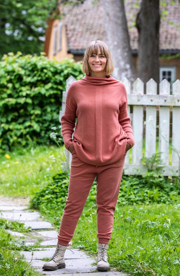 Nova strikket genser, Terracotta