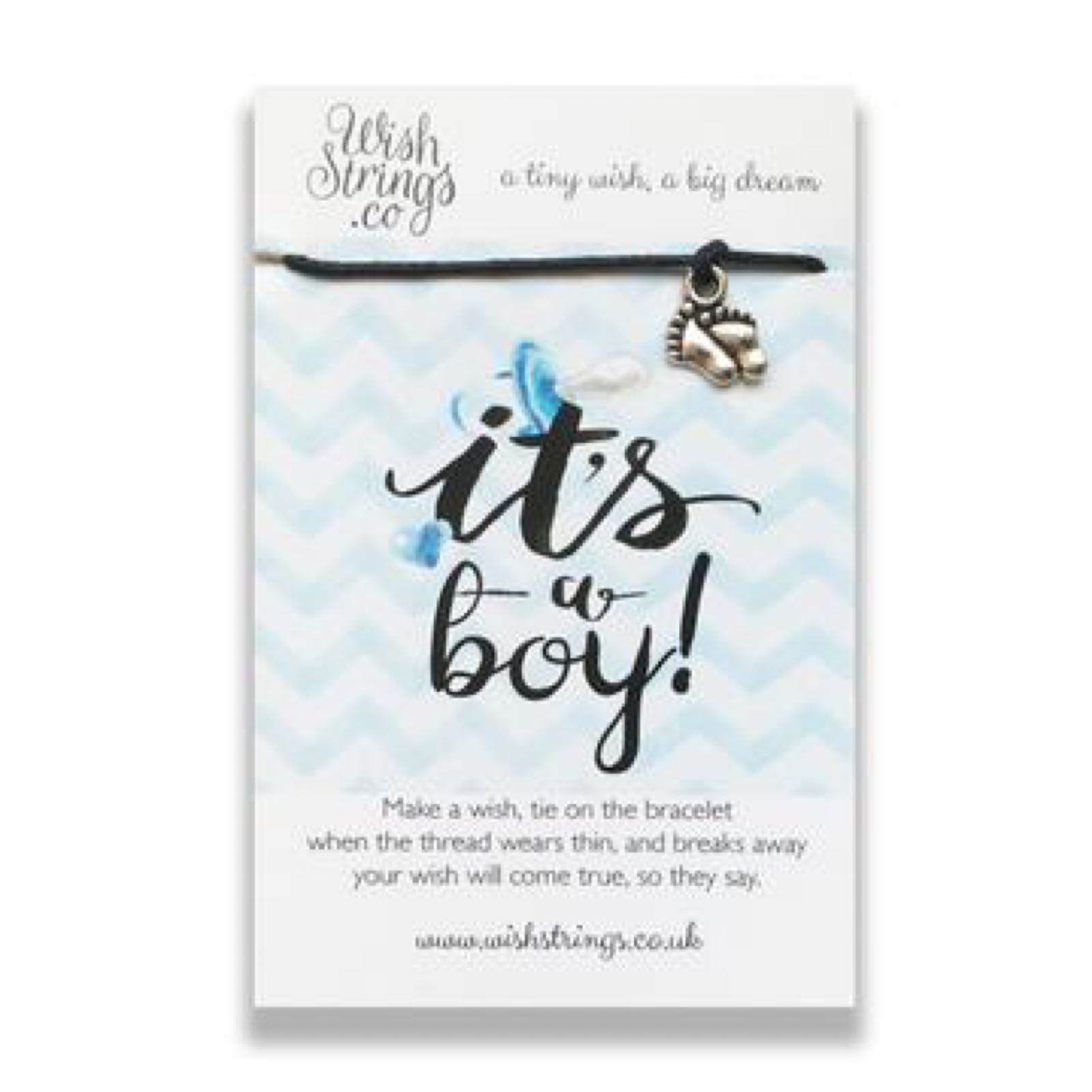 *Sale* It's a Boy Wish String