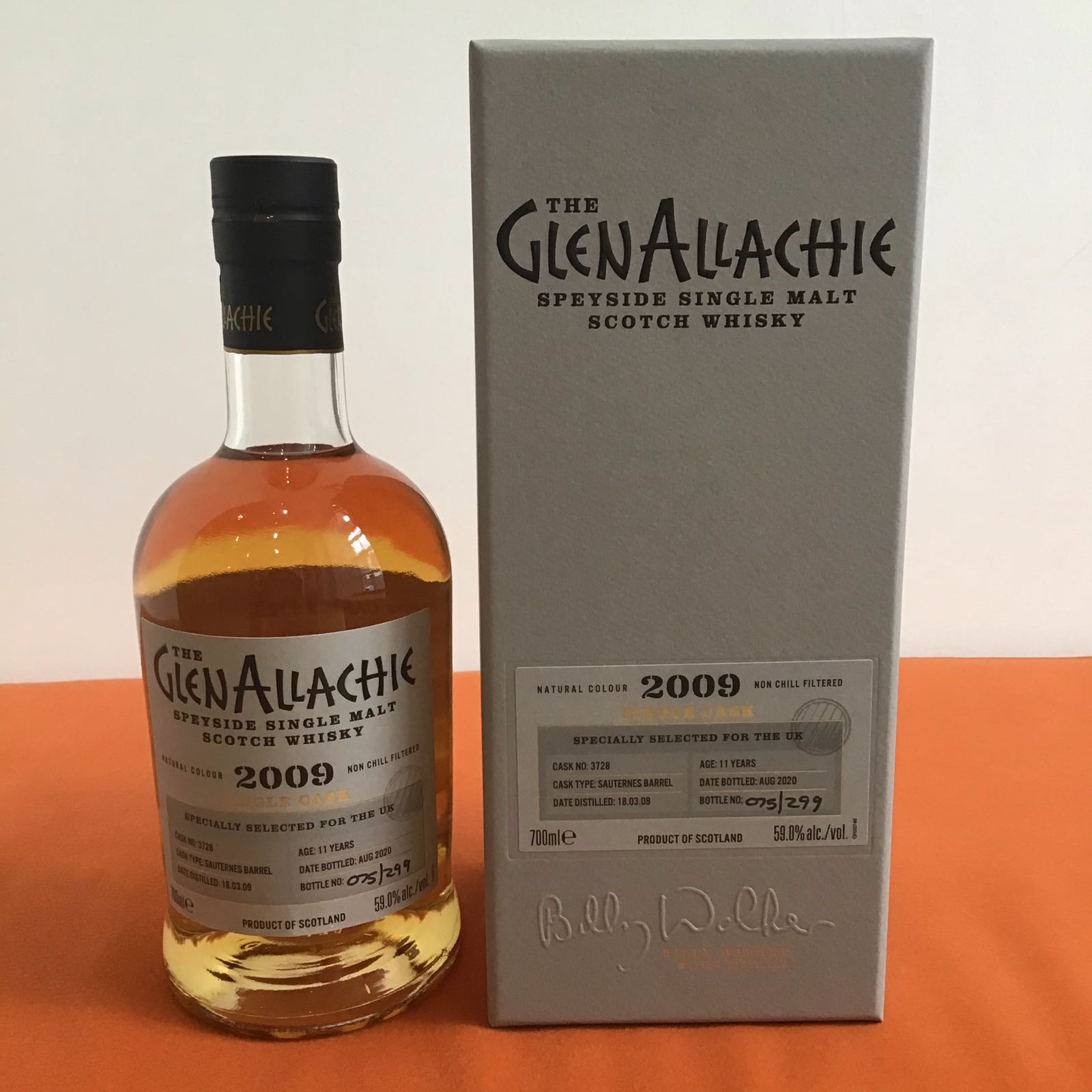 GlenAllachie Single Cask / Sauternes Barrel / 11 Years Old / Cask #3728
