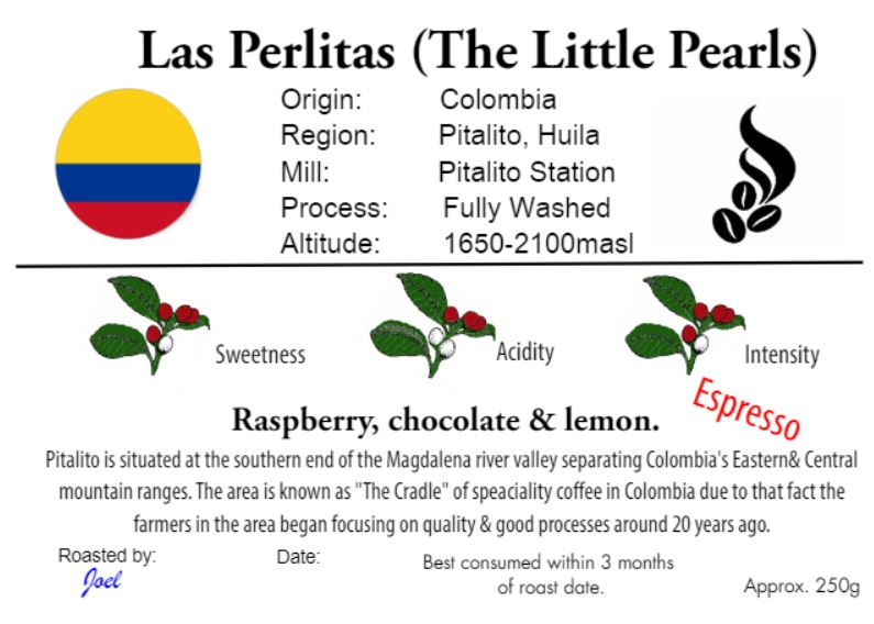 Las Perlitas-The Little Pearls- Colombia - 250g