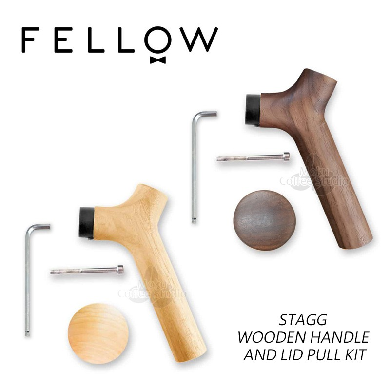 Fellow Stagg Wooden Handle & Lid Pull Kit