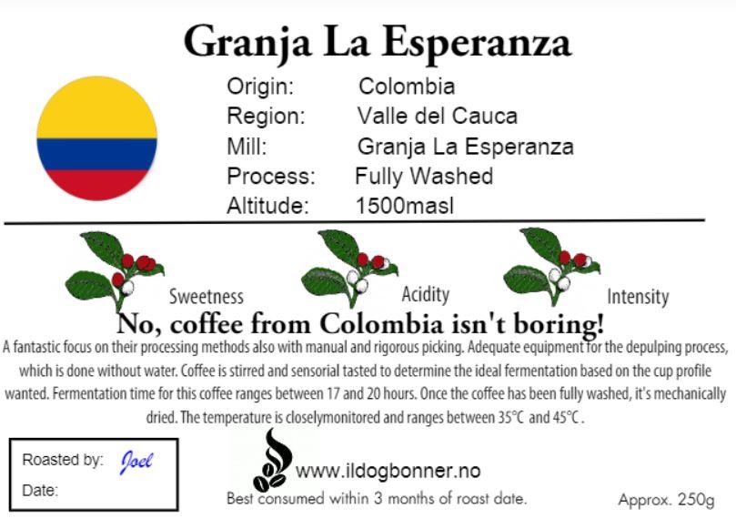 Granja La Esperanza, Yellow Bourbon - Colombia - 250g