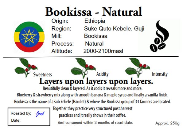 Bookissa - Ethiopia - Natural - 250g