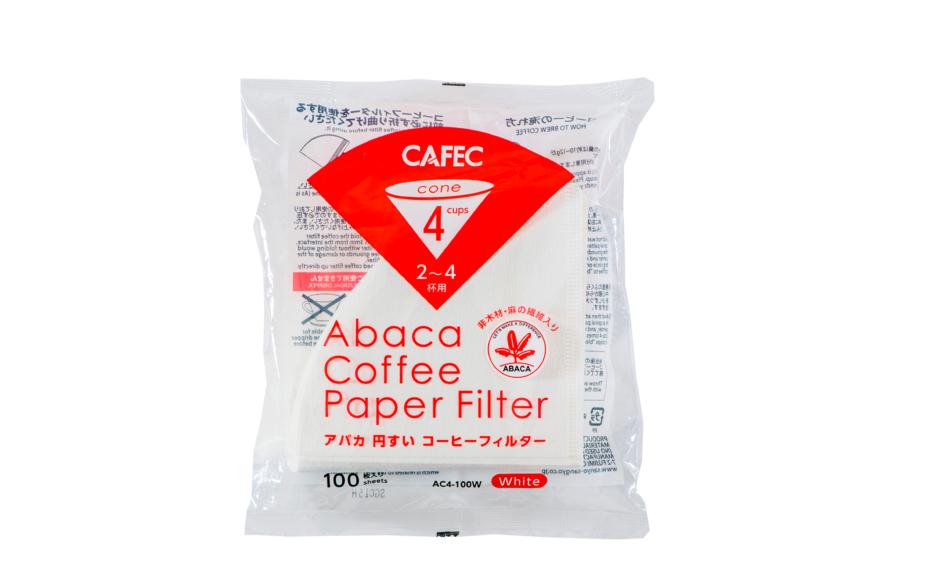 Cafec-Abaca Paper Filters-4 Cup(Hario 02)-100pcs