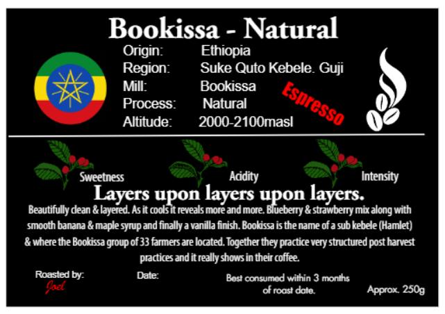 Bookissa - Ethiopia - ESPRESSO -  Natural -250g