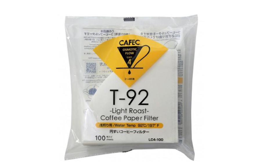 Cafec-Light Roast Filters-4 Cup(Hario 02)-100pcs