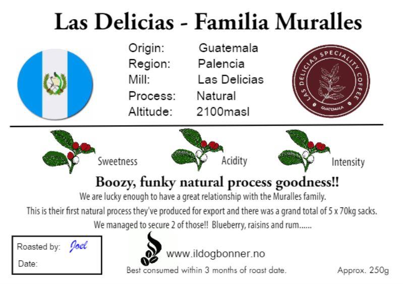 Las Delicias, Guatemala- Natural Process - 250g