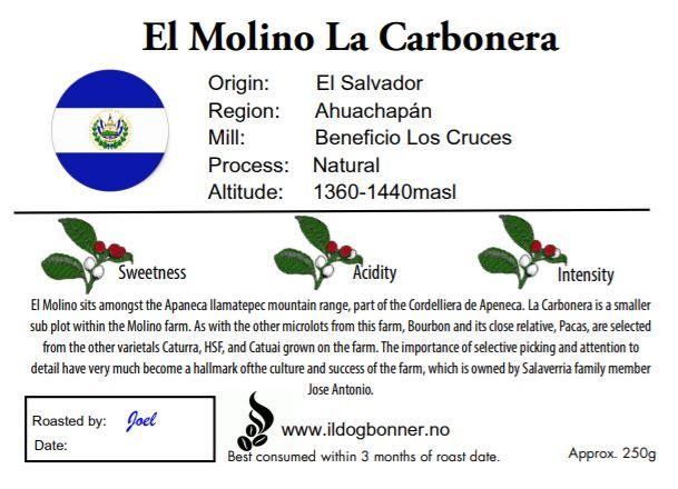 El Molino La Carbonera - El Salvador - 250g