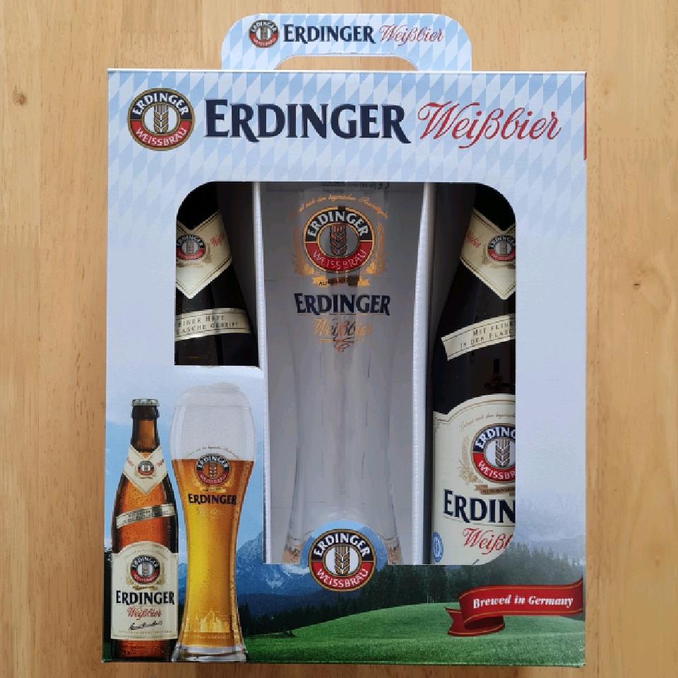 Erdinger Gift Pack (2x 500ml bottles + Glass)