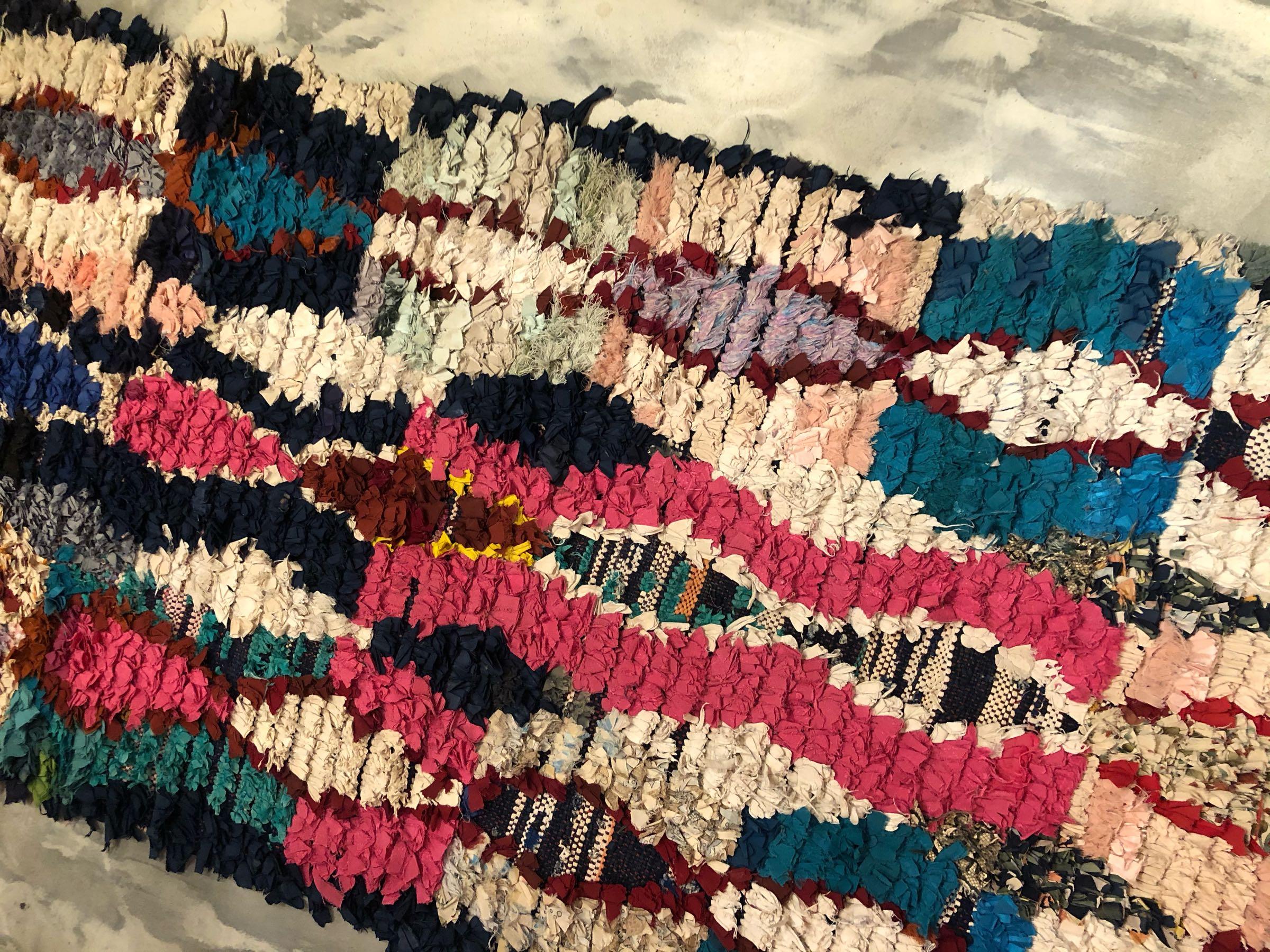 Boucherouite rug 102x202 cm