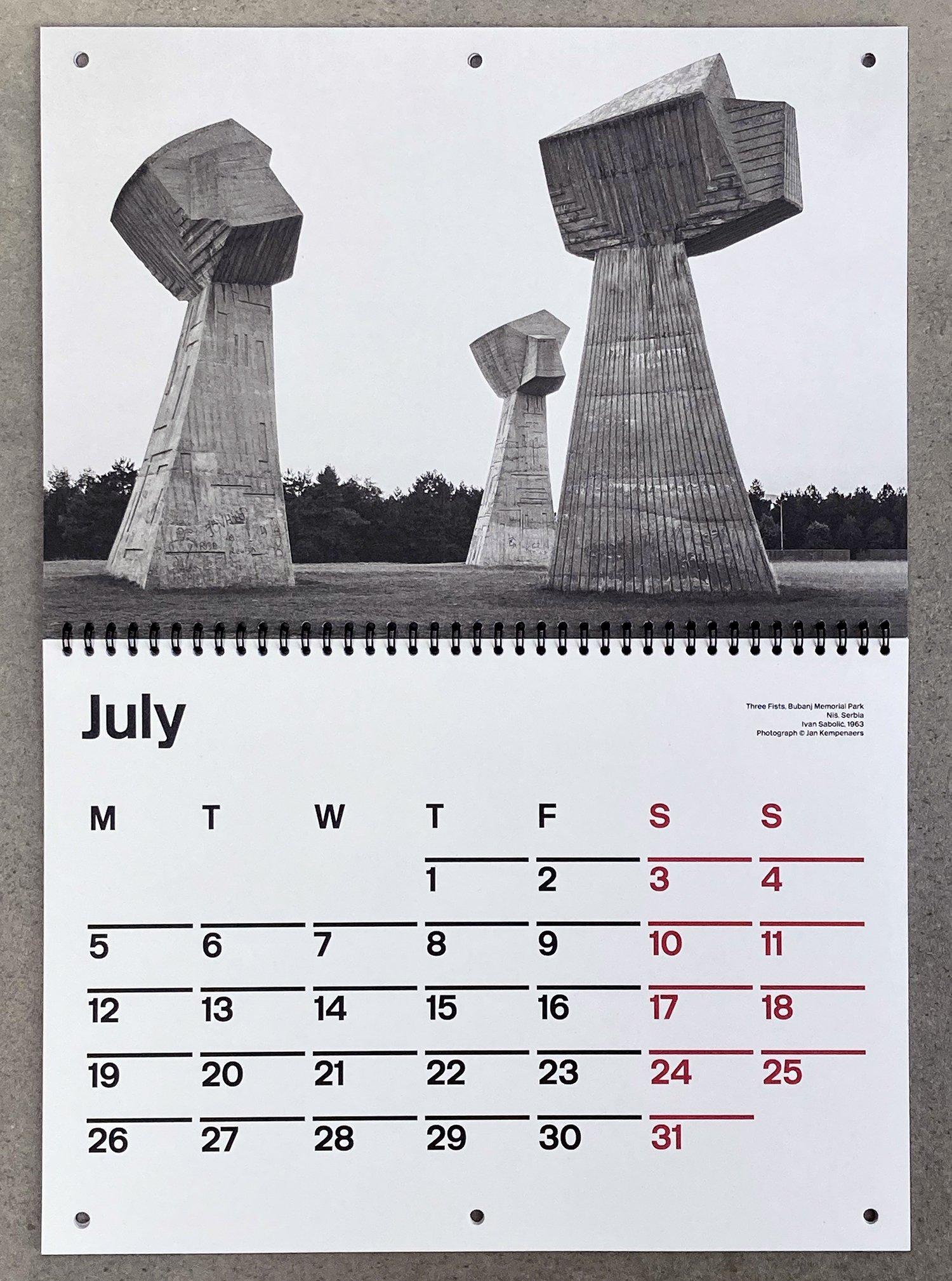 Brutalist Calendar 2021