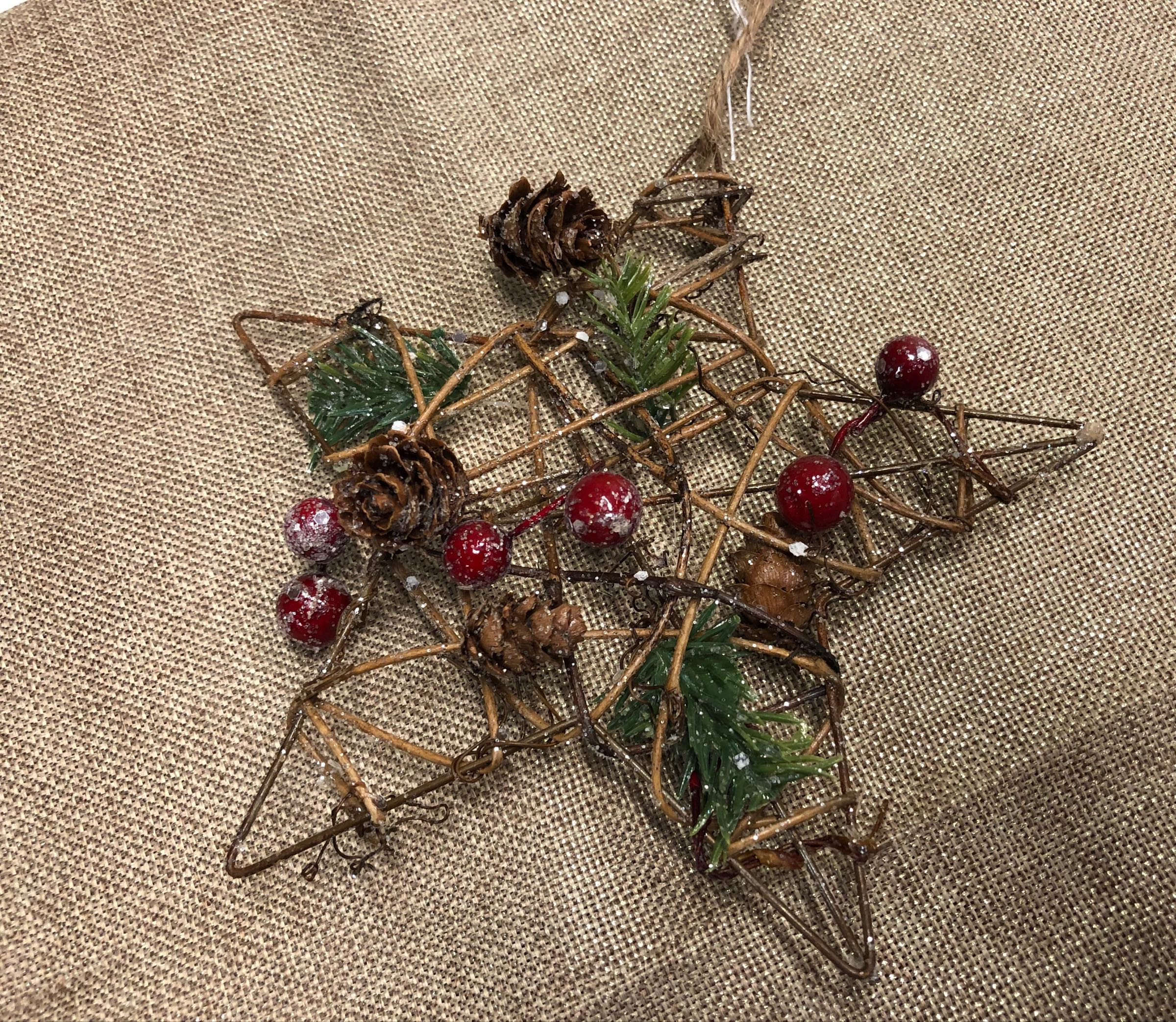 Stick star decoration