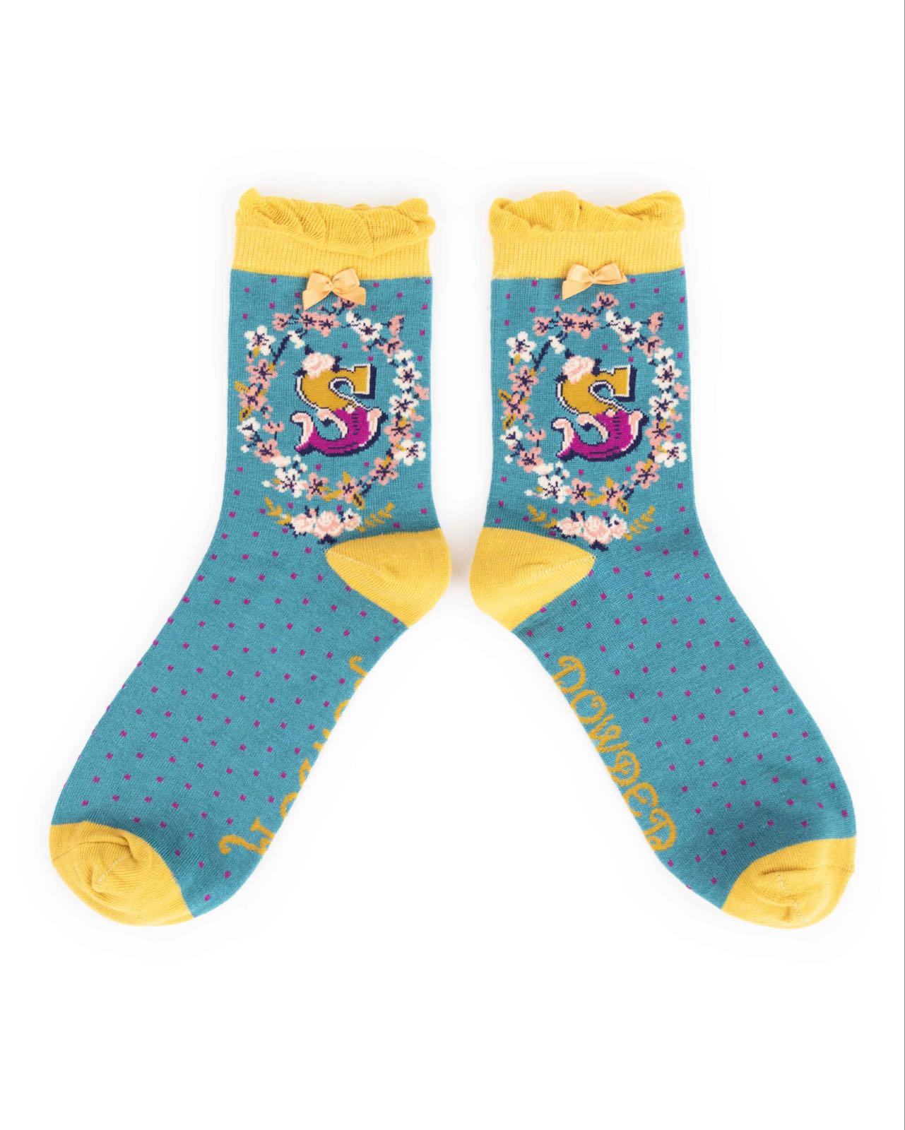 Powder Alphabet socks S (product may differ from item shown in the photo) 4-6 ladies
