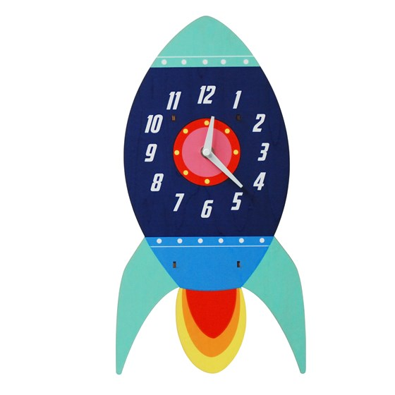 SPACESHIP WOODEN WALL CLOCK
