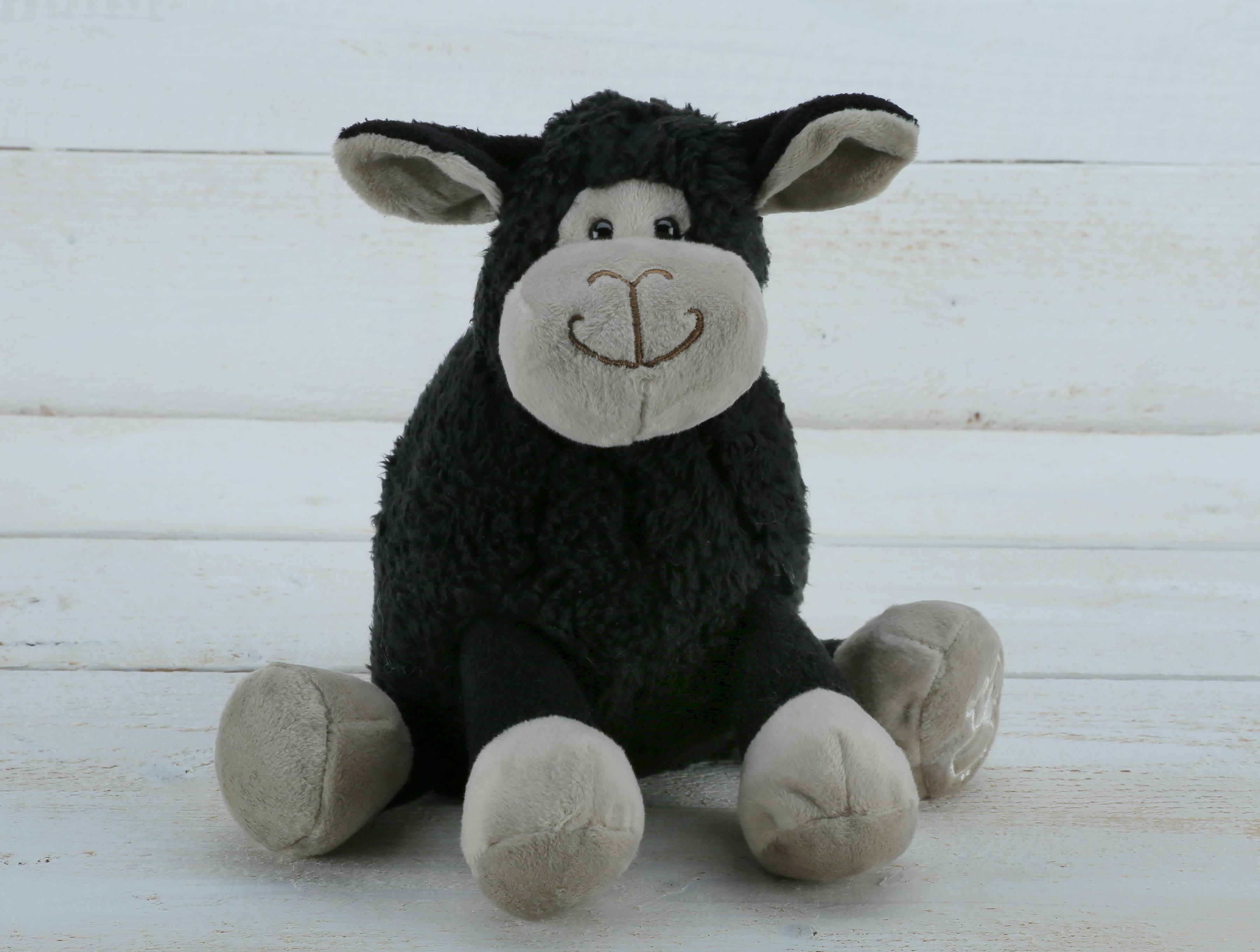 SMALL BLACK SITTING SHEEP JOMANDA