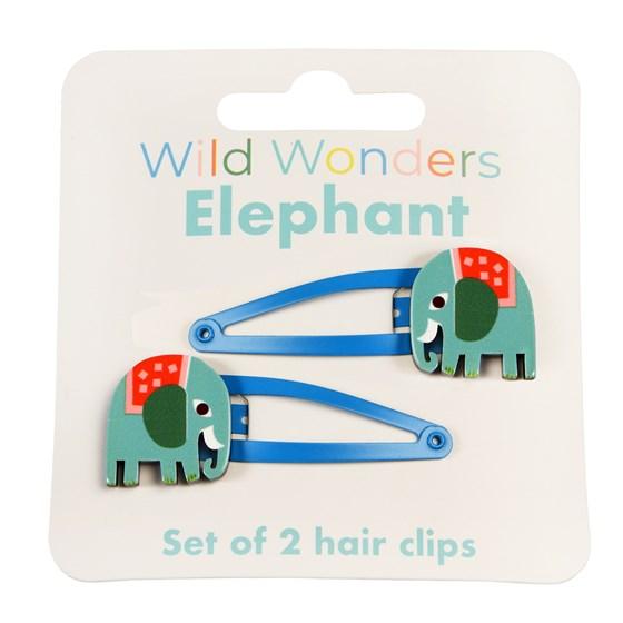 HAIRCLIPS - WILD WONDERS ELEPHANT (SET OF 2)