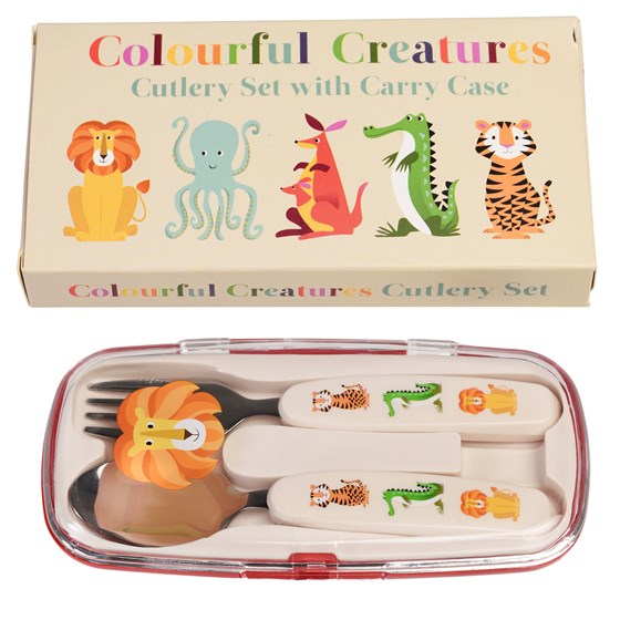 CUTLERY SET - COLOURFUL CREATURES